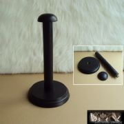 16 inch Helmet Display Stand With Mahogany Finish